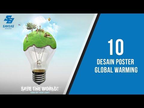 10 Desain Poster Global Warming yang Bagus dan Kreatif