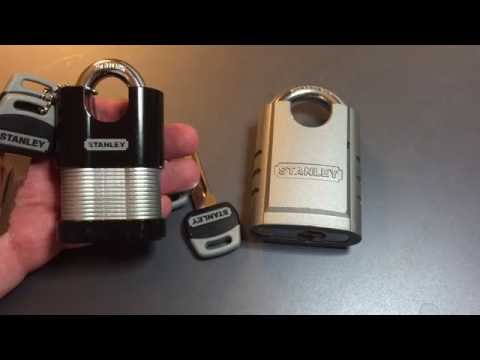[163] Stanley Solid Steel Shrouded Padlock Picked and Gutted (Model CD8820)
