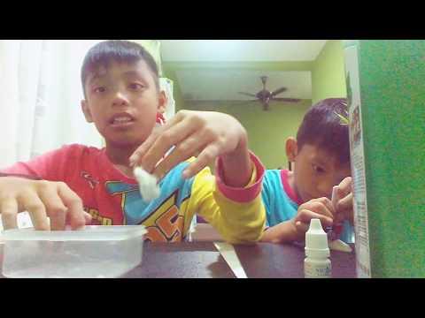 Cara cara membuat slime tanpa dynamo Dan baby oil( Malaysia)