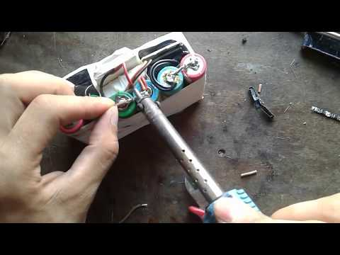 How to make 12V 10000mah lithium battery pack 4P 3S