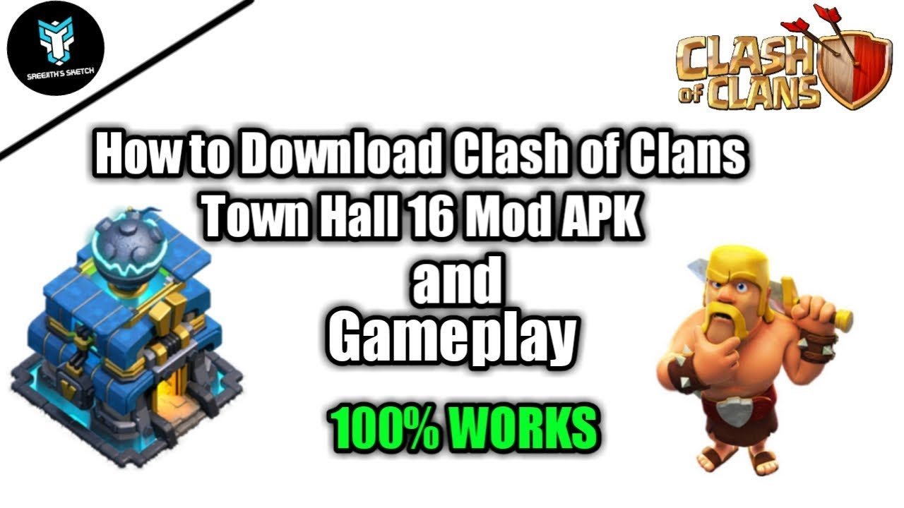 How to Download Clash of Clans Town Hall 16 Mod APK and Gameplay