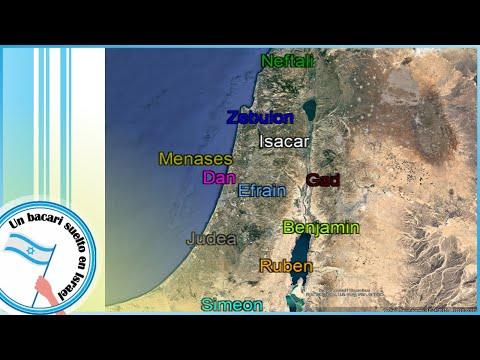 Las Tribus De Israel En El Mapa