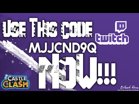 Castle Clash: Secret Code Event! & Twitch For Gems!