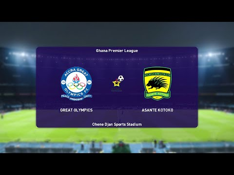 ⚽ Great Olympics vs Asante Kotoko ⚽   Ghana Premier League (16/04/2021)   PES 2021