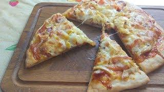 Рецепт Быстрого Теста для Пиццы и Вкуснейшая Пицца-моя любимая!