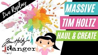 🛑 MASSIVE TIME HOLTZ \u0026 RANGER SHOPPING HAUL | Distressing Experiments | Alcohol Ink Experiments