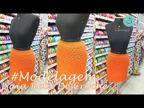 Saia Reta De Crochê - Curso De Modelagem De Crochê - Henrique Silva TV