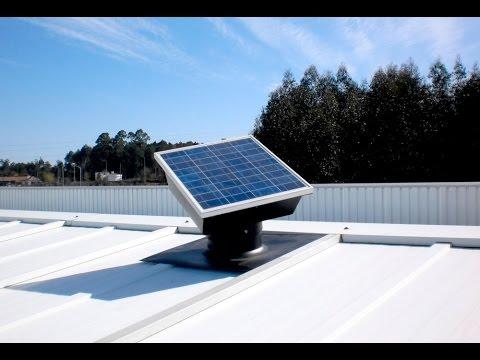 Solar Fotovoltaic Ventilators - Ventilation without energy costs