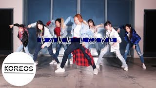 Video [Koreos] BTS 방탄소년단 - Fake Love Dance Cover 댄스커버 Female ver. download MP3, 3GP, MP4, WEBM, AVI, FLV Agustus 2018
