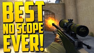 BEST NO SCOPE EVER!! - CS GO Funny Moments in Competitive