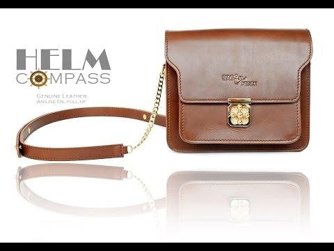 กระเป๋าผู้หญิง HELM COMPASS Genuine Leather