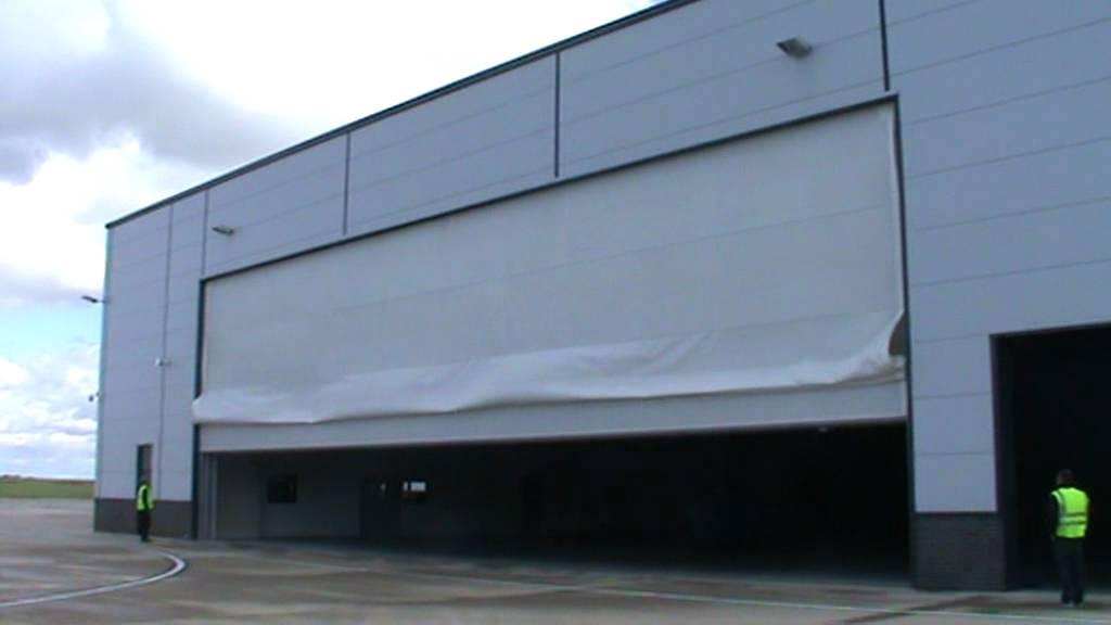 Megadoor - Vertical Lifting Fabric Door (outside view ...