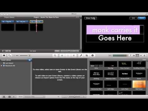Create Video Poetry Using iMovie