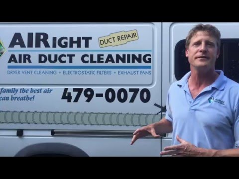 Airight Air Duct And Dryer Vent Cleaning - Job Demo 1 - Youtube