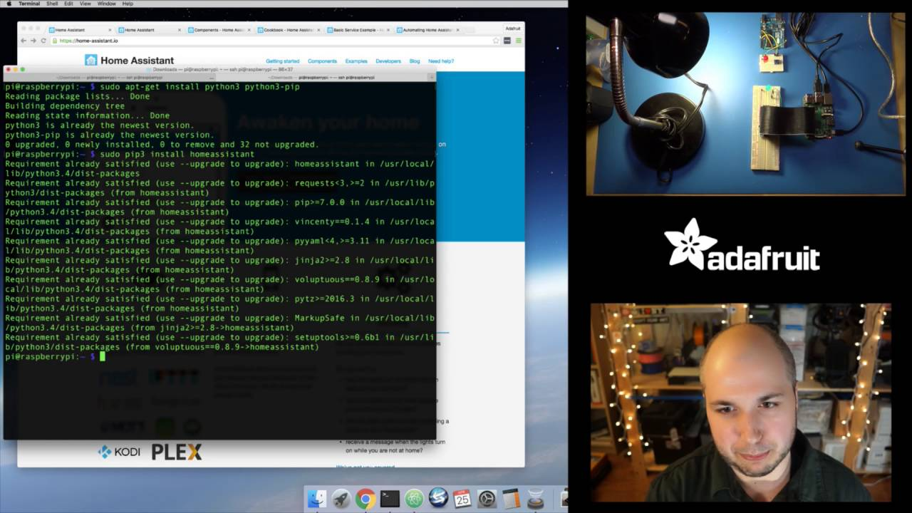 Checking out home-assistant io on Raspberry Pi with Tony D! @adafruit #LIVE