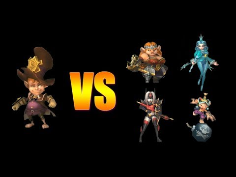 Trickster In Battle | Legendary Trickster VS Rare And Epic Heroes | Lords Mobile