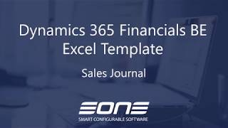 Excel Integration with Dynamics 365 Business Central - Sales Journal