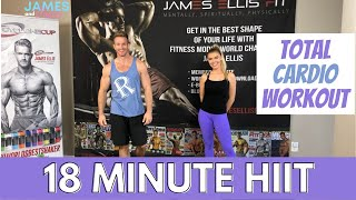 18 Minute HIIT || Total Cardio Workout || Fat Burning || At Home Workout || No Equipment Workout