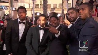 Straight Outta Compton on the red carpet for the SAG Awards