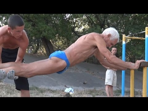 Muscle Beach training - Crazy Old Man Workout. from YouTube · Duration:  2 minutes 58 seconds