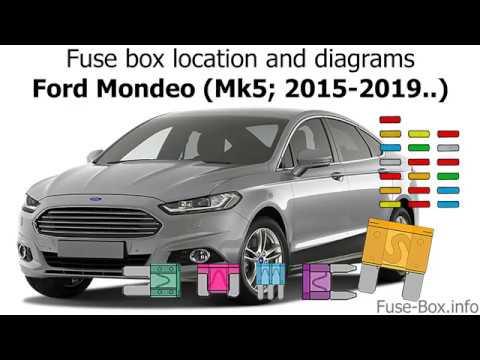 [DIAGRAM_38EU]  Fuse box location and diagrams: Ford Mondeo (Mk5; 2015-2019..) - YouTube | Ford Mondeo Fuse Box Location |  | YouTube