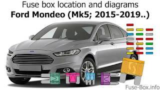 [SCHEMATICS_4NL]  Fuse box location and diagrams: Ford Mondeo (Mk5; 2015-2019..) - YouTube | Ford Mondeo Fuse Box Location |  | YouTube
