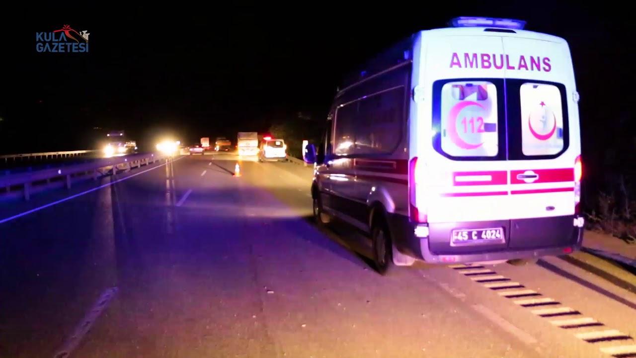 Kula'da Trafik Kazası; 1 Yaralı