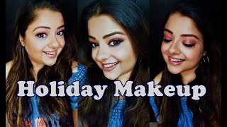 Summer Holiday Makeup Look    No foundation layer   Coloured eyelids Nude Lips