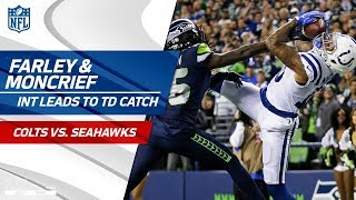 Matthias Farley Tips INT to Himself & Donte Moncrief Leaps for TD! | Colts vs. Seahawks | NFL Wk 4