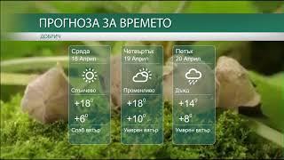 Прогноза за времето на 18-ти, 19-ти и 20-ти Април 2018г.