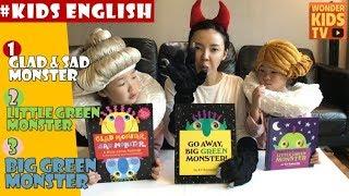 kids english [영어동화 3편 연속보기] 몬스터 시리즈3편 Monster Stories for children by Ed Emberley l 원더키즈TV