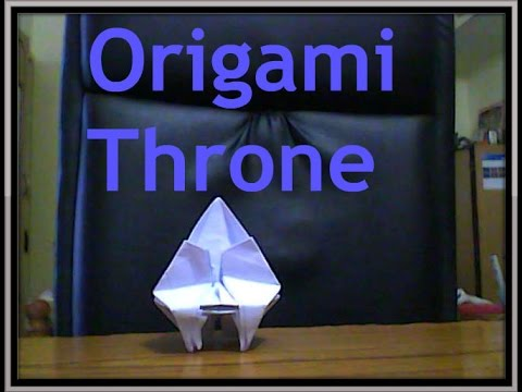 Origami Throne - Origami World