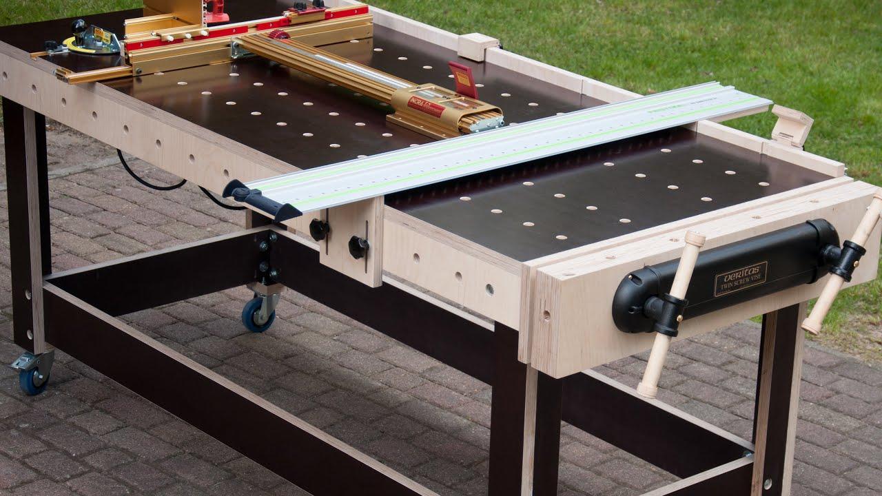 Multi Werkbank Frastisch Multi Funktions Tisch Selber Bauen Werkzeugschrank Eigenbau Festool Youtube