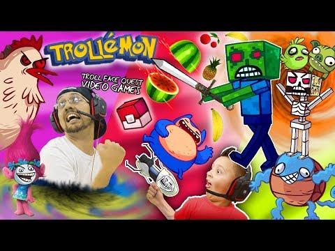 TROLLEMON? FGTEEV TROLL QUEST Pocket Edition (Scared Minecraft Steve + ¿What? Ninja = Awesome)