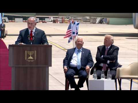 Netanyahu welcomes Trump to Israel