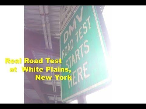 DMV real road test film at White Plains location New York