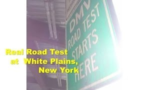 DMV real road test film at White Plains location New York