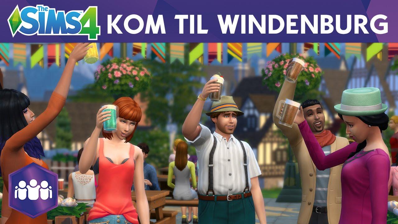 The Sims 4 Nye Venner Kom Til Windenburg Youtube