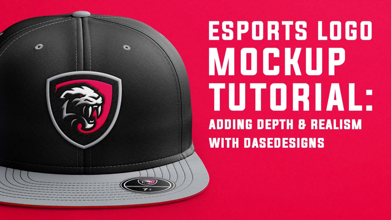 Esports Logo Presentation Tutorial | Simple Embroidering Effects in Adobe  Photoshop | DaseDesigns