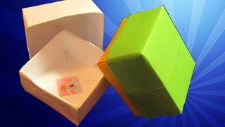 КОРОБОЧКА ИЗ БУМАГИ. Простейшее оригами для начинающих. Видео(ПОДАРОК моим зрителям ЗДЕСЬ: https://clck.ru/9ShzR Коробочка из бумаги - очень красивое и полезное оригами. С этой..., 2015-01-17T20:30:44.000Z)