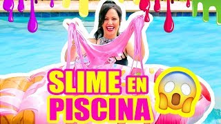 RETO SLIME EN LA PISCINA!!! y SORTEO iPHONE X! SLIME Con Ingrediente Secreto LOL SandraCiresArt thumbnail
