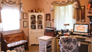 Office Tour & Antique Decor Ideas for an Office Space | Vintage Touch