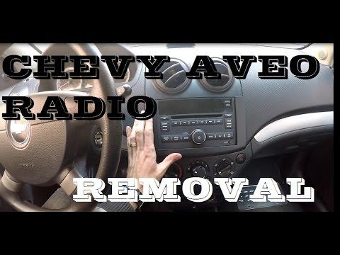 How To Remove Radio In Chevrolet Aveo Youtube