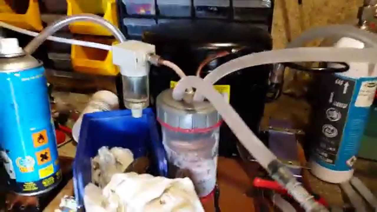 Homemade refrigerated air dryer - YouTube