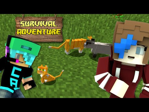 MINECRAFT SURVIVAL ADVENTURE SERIES | KITTIES FOR DAYZ | RADIOJH AUDREY & GAMER CHAD