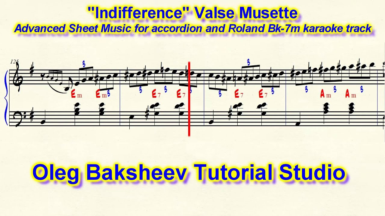 Indifference Valse Musette Accordion Sheet Music Review Youtube