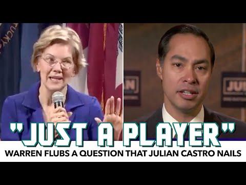 Warren Flubs A Simple Question That Julian Castro Nails