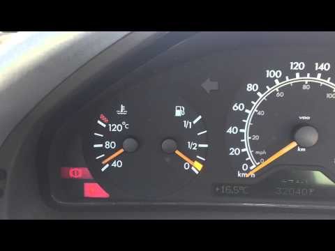 Mercedes ..flashing fuel light.. rapid fuel loss, loose gas cap, or overfilled tank