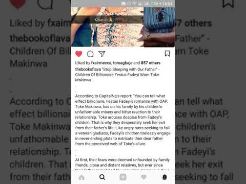 TOKE MAKINWA – SLEEPING WITH BILLIONAIRE FESTUS FADEYI