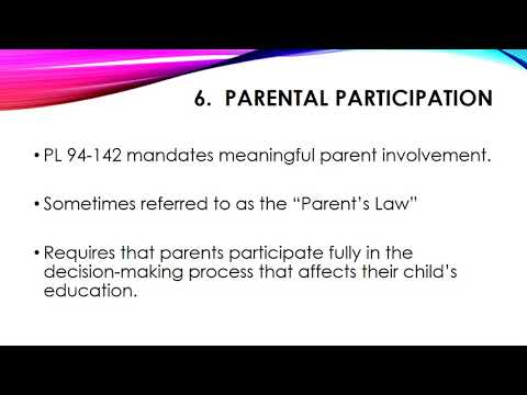 Special Education Legal Rights Presentation